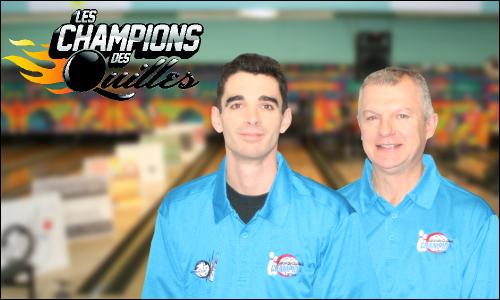 Mathieu Fafard et Michel Jourdenais , équipe championne en 2013-2014