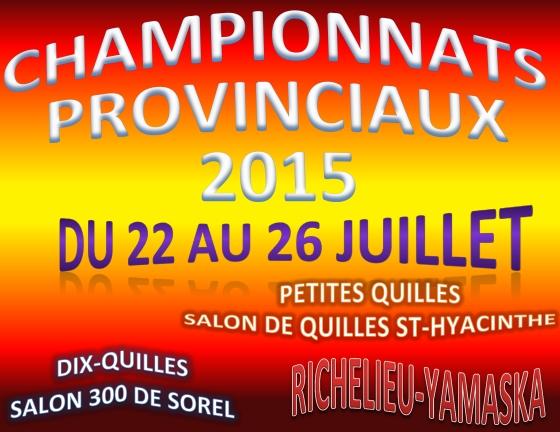 championnats provinciaux 2015